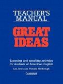Jones, Leo; Kimbrough, Victoria - Great Ideas Teacher's manual - 9780521312431 - V9780521312431