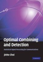 Choi, Jinho - Optimal Combining and Detection - 9780521517607 - V9780521517607