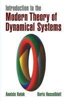 Katok, Anatole, Hasselblatt, Boris - Introduction to the Modern Theory of Dynamical Systems (Encyclopedia of Mathematics and its Applications) - 9780521575577 - V9780521575577
