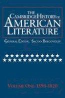 - The Cambridge History of American Literature: Volume 1, 1590–1820: 1590-1820 Vol 1 - 9780521585712 - V9780521585712