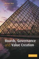 Huse, Morten - Boards, Governance and Value Creation - 9780521606349 - V9780521606349