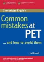 Driscoll, Liz - Common Mistakes at PET...and How to Avoid Them - 9780521606844 - V9780521606844