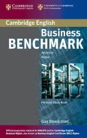 Brook-Hart, Guy - Business Benchmark Advanced Personal Study Book for BEC and BULATS - 9780521672979 - V9780521672979