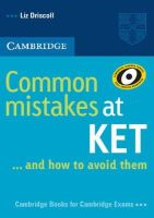 Driscoll, Liz - Common Mistakes at KET - 9780521692489 - V9780521692489