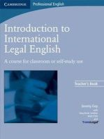 Day, Jeremy - Introduction to International Legal English Teacher's Book - 9780521712033 - V9780521712033