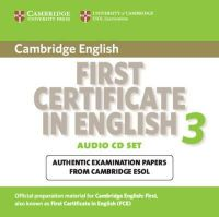 Cambridge ESOL - Cambridge First Certificate in English 3 for Updated Exam Audio CDs (2) - 9780521739313 - V9780521739313