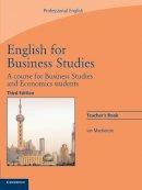 MacKenzie, Ian - English for Business Studies Teacher's Book - 9780521743426 - V9780521743426