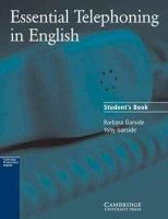 Garside, Barbara; Garside, Tony - Essential Telephoning in English Student's Book - 9780521783880 - V9780521783880