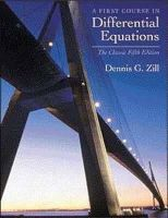 Zill, Dennis G. - A First Course in Differential Equations: The Classic Fifth Edition - 9780534373887 - V9780534373887