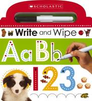 Scholastic - Write and Wipe ABC 123 - 9780545915359 - V9780545915359