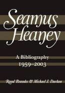 Brandes, Rand - SEAMUS HEANEY BIBLIOGRAPHY - 9780571234394 - 9780571234394