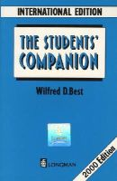 Best, Wilfred D. - Student's Companion - 9780582075177 - V9780582075177