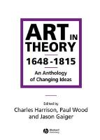 - Art in Theory 1648-1815 - 9780631200642 - V9780631200642