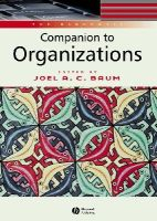 - The Blackwell Companion to Organizations - 9780631216957 - V9780631216957