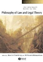 Golding, Edmundson - The Blackwell Guide to the Philosophy of Law and Legal Theory - 9780631228325 - V9780631228325