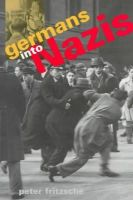Fritzsche, Peter - Germans into Nazis - 9780674350922 - V9780674350922