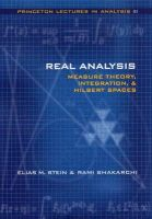 Stein, Elias M.; Shakarchi, Rami - Real Analysis - 9780691113869 - V9780691113869