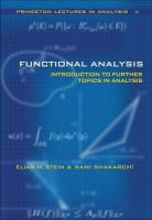 Stein, Elias M.; Shakarchi, Rami - Functional Analysis - 9780691113876 - V9780691113876