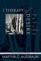 Nussbaum, Martha C. - The Therapy of Desire - 9780691141312 - V9780691141312