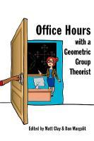 Clay, Matt, Margalit, Dan - Office Hours with a Geometric Group Theorist - 9780691158662 - V9780691158662