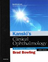 Bowling FRCSEd(Ophth)  FRCOphth  FRANZCO, Brad - Kanski's Clinical Ophthalmology: A Systematic Approach, 8e - 9780702055720 - V9780702055720