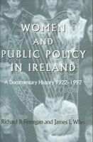 Richard Finnegan & James Wiles - Women and Policy in Ireland: A Documentary History 1922-1997 - 9780716527787 - KON0819946