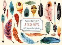 Margaret Berg - Arrows & Feathers Sticky Notes - 9780735341593 - V9780735341593