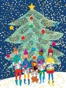 Galison - Christmas Carolers Large Embellished Holiday Notecards - 9780735344143 - V9780735344143