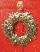 Galison - Red Door Wreath Embellished Notecards - 9780735344365 - V9780735344365