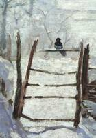 Galison - Monet Magpie Detail Boxed Holiday Half Notecards - 9780735344433 - V9780735344433