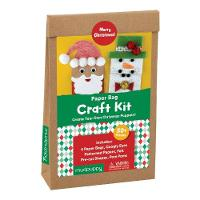. - Mudpuppy Merry Christmas! Paperbag Craft Kit - 9780735346017 - V9780735346017