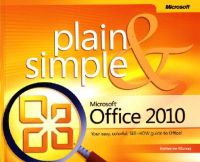 Murray, Katherine - Microsoft Office 2010 Plain and Simple - 9780735626973 - V9780735626973