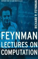 Feynman, Richard P., Hey, Anthony - Feynman Lectures On Computation - 9780738202969 - V9780738202969