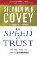 Covey,Stephen M.R. - The Speed of Trust - 9780743295604 - V9780743295604