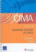 - BUSINESS TAXATION FA 2003 P5 - 9780748360895 - V9780748360895