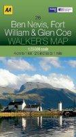 AA Publishing - Walker's Map Ben Nevis, Fort William & Glen Coe - 9780749573089 - V9780749573089