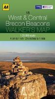 AA Publishing - Walker's Map West & Central Brecon Beacons (Aa Walkers Map) - 9780749573102 - V9780749573102