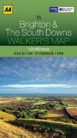 AA Publishing - Walker's Map Brighton & The South Downs - 9780749573119 - V9780749573119