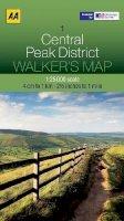 AA Publishing - Walker's Map Central Peak District - 9780749573140 - V9780749573140