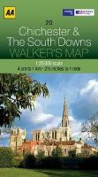 AA Publishing - Walker's Map Chichester & The South Downs - 9780749573164 - V9780749573164