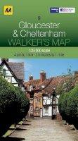 AA Publishing - Walker's Map Gloucester & Cheltenham - 9780749573201 - V9780749573201