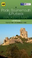 AA Publishing - Walker's Map Poole, Bournemouth & Purbeck - 9780749573300 - V9780749573300