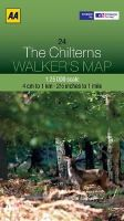 AA Publishing - Walker's Map The Chilterns - 9780749573331 - V9780749573331