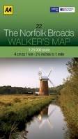 AA Publishing - Walker's Map The Norfolk Broads - 9780749573355 - V9780749573355