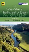 AA Publishing - Walker's Map Wye Valley & The Forest of Dean - 9780749573362 - V9780749573362