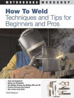 Bridigum, Todd - How to Weld - 9780760331743 - V9780760331743