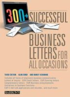 Bond, Alan, Schuman, Nancy - 300+ Successful Business Letters for All Occasions (Barron's 300+ Successful Business Letters for All Occasions) - 9780764143199 - V9780764143199