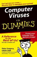 Gregory, Peter H. - Computer Viruses For Dummies - 9780764574184 - V9780764574184