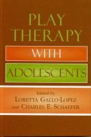 - Play Therapy with Adolescents - 9780765703392 - V9780765703392