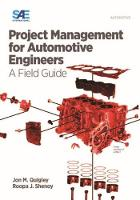 Quigley, Jon M., Shenoy, Roopa Jha - Project Management for Automotive Engineers: A Field Guide - 9780768080773 - V9780768080773